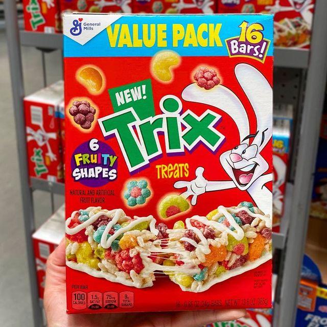 general mills trix cereal treats bars