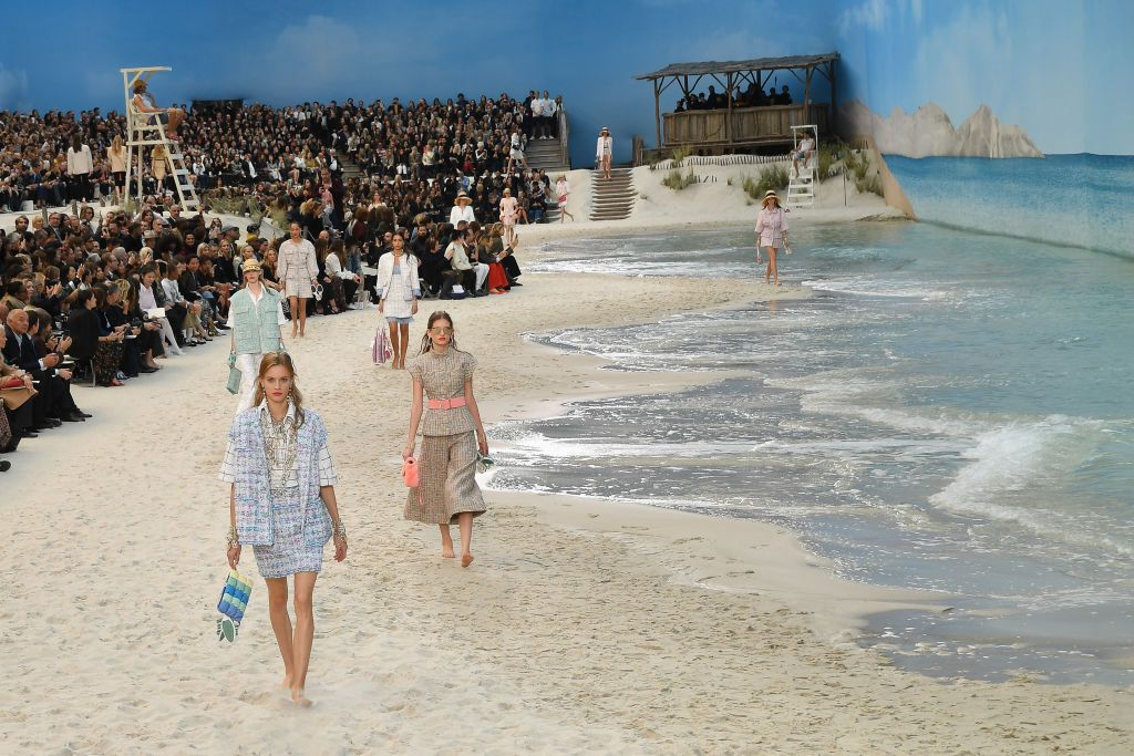 Image result for Chanel Brings the Beach to the Runway