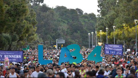 LA Celebrates The 34th Running Of The Skechers Los Angeles Marathon With Local Baseball Stars Justin Turner And Albert Pujols