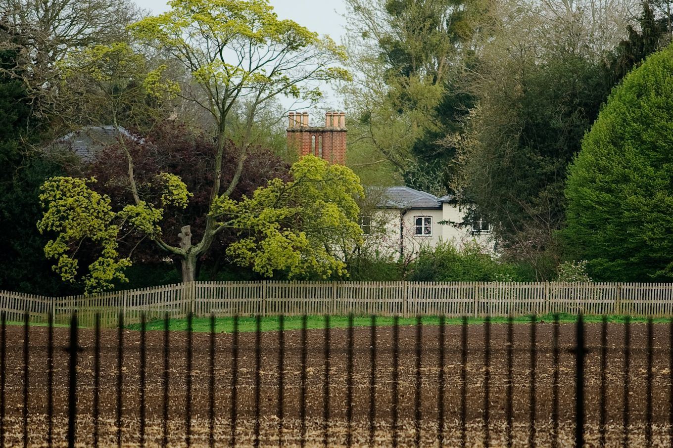 A view of Prince Harry and Meghan Markle's new home Frogmore Cottage in Windsor.