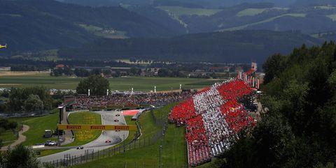 inicio del gran premio de austria de 2017