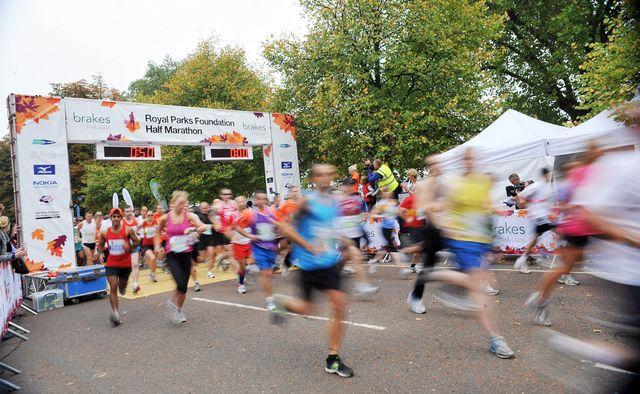 royal parks foundation half marathon   start photocall