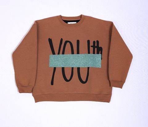 Clothing, T-shirt, Product, Sleeve, Text, Brown, Top, Orange, Pink, Font,