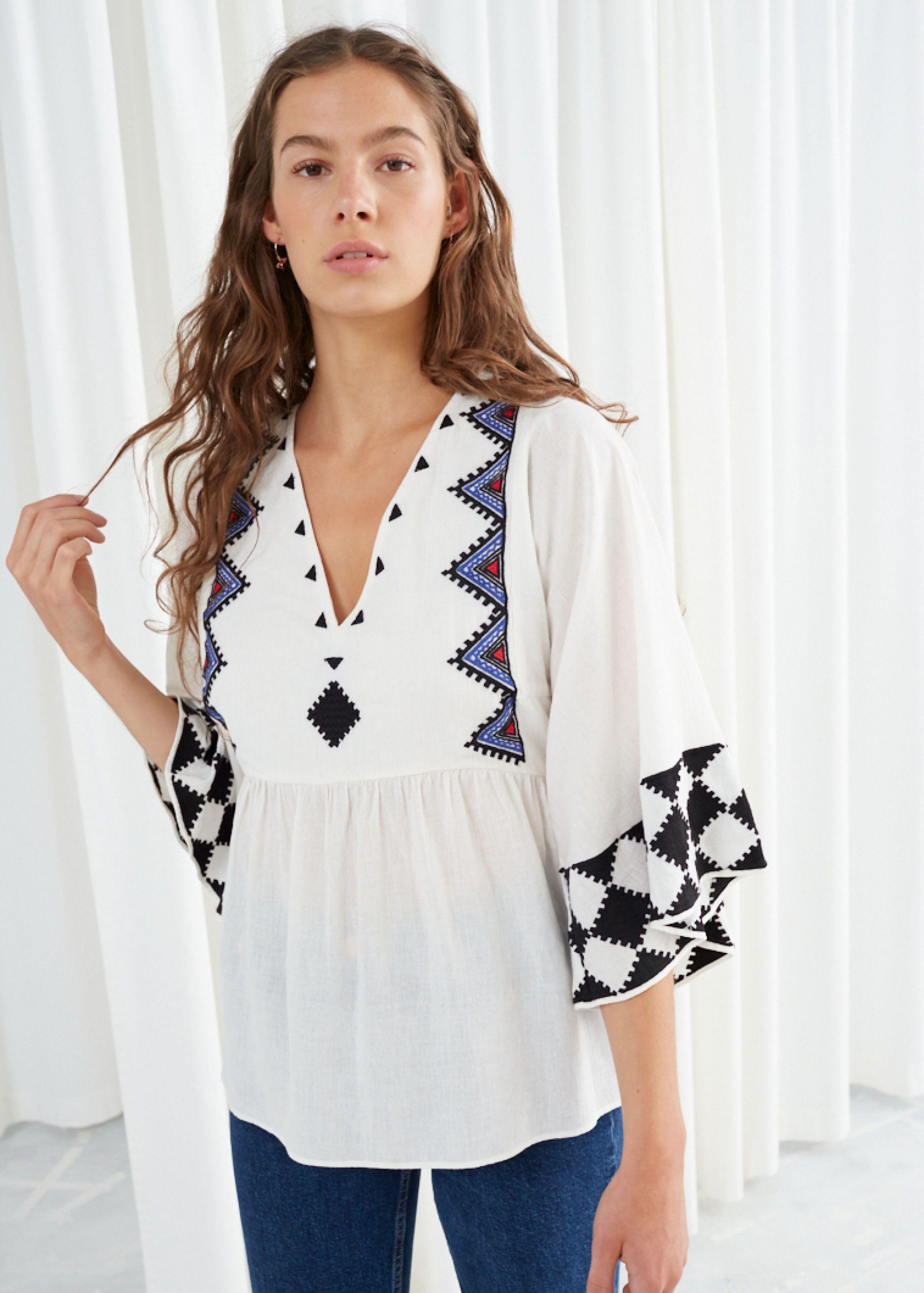 summer city dressing - peasant blouse