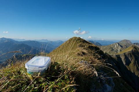 Geocaching in the mountains