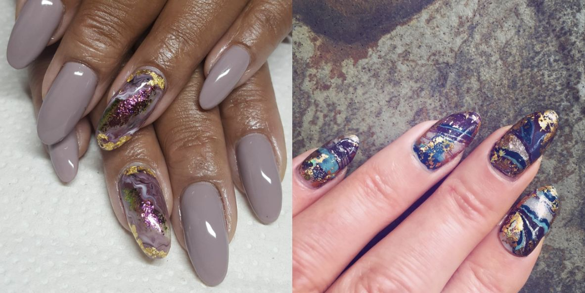 This New Geode-Inspired Nail Trend Totally Rocks