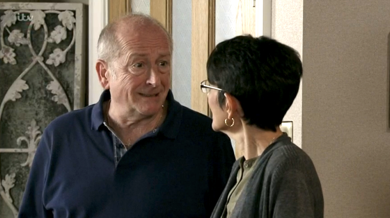 Coronation Street viewers horrified as controlling Geoff Metcalfe spies on Yasmeen Nazir with cameras
