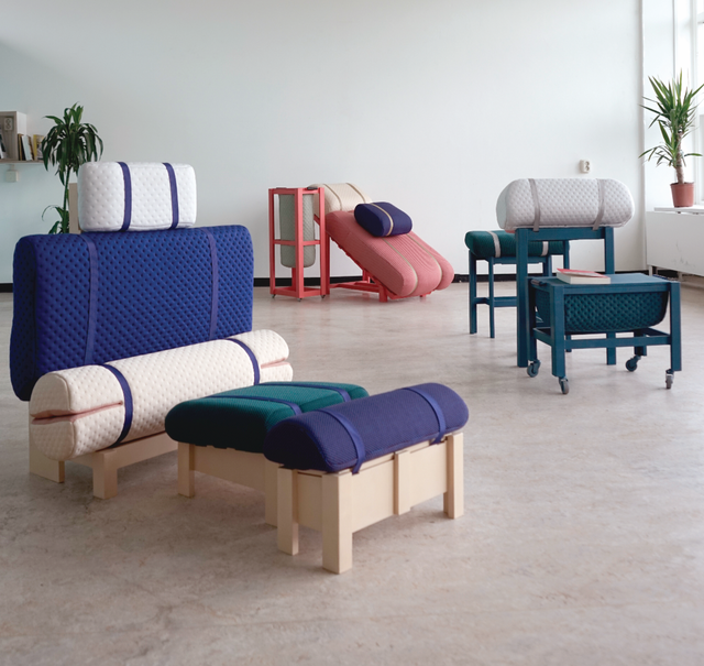Geoffrey Pascal's Grafeiophobia Furniture Collection Mimics Working From Bed