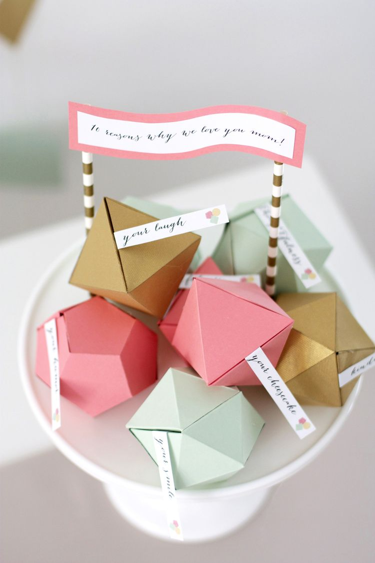 Geometric Surprise - DIY Mother's Day Gifts