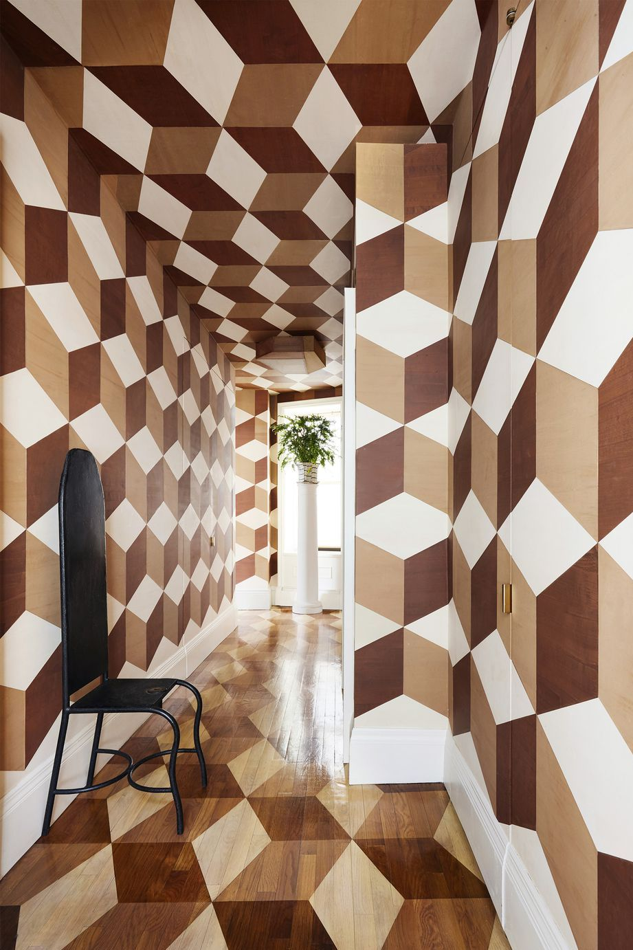 wooden geometric walls