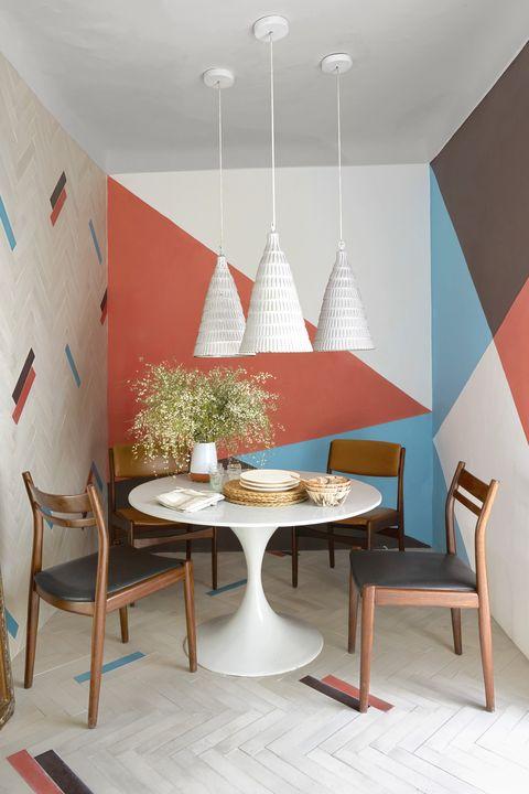 geometric wall ideas