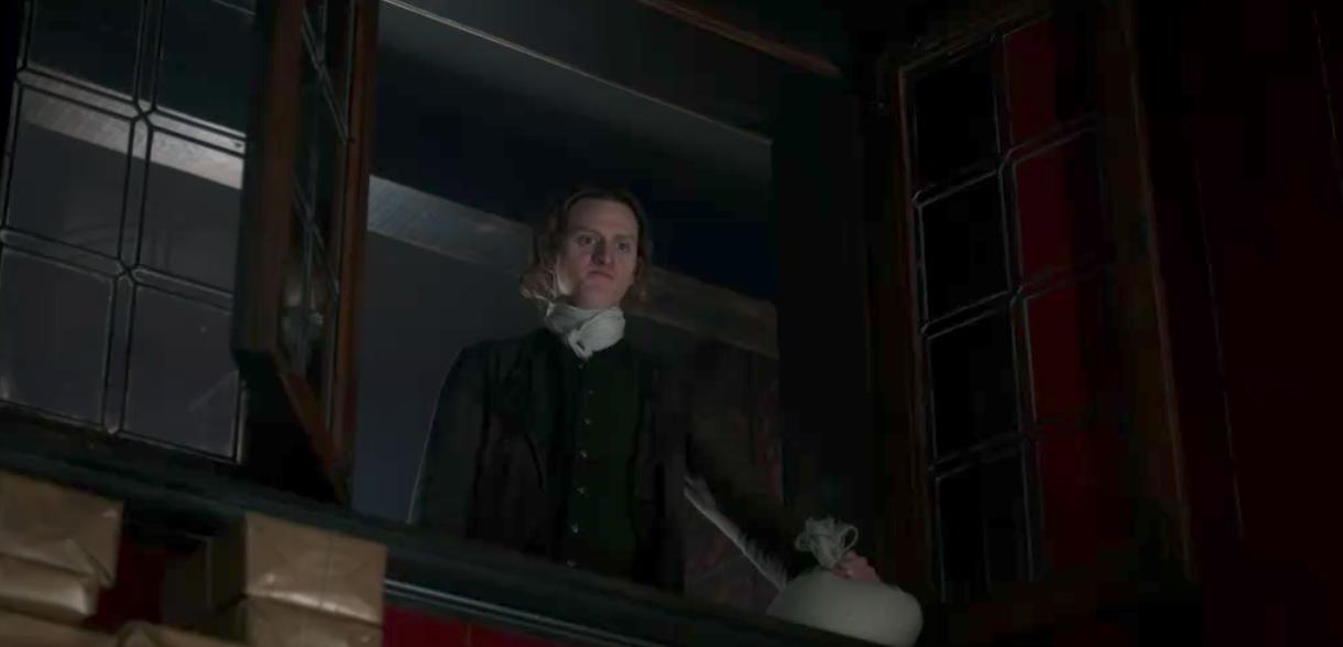 Geordie in Outlander episode 6