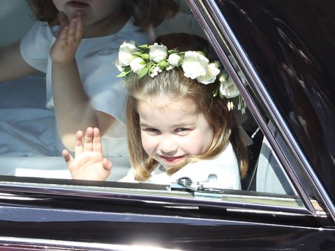Princess Charlotte and Prince George at the royal wedding
