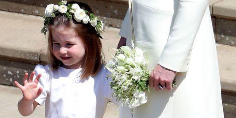 Princess Charlotte and Prince George at the royal wedding