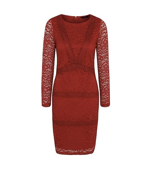George at Asda red lace dress