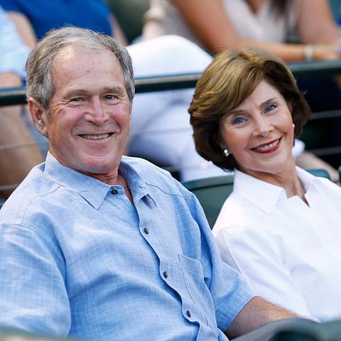 president george w bush with first lady laura bush