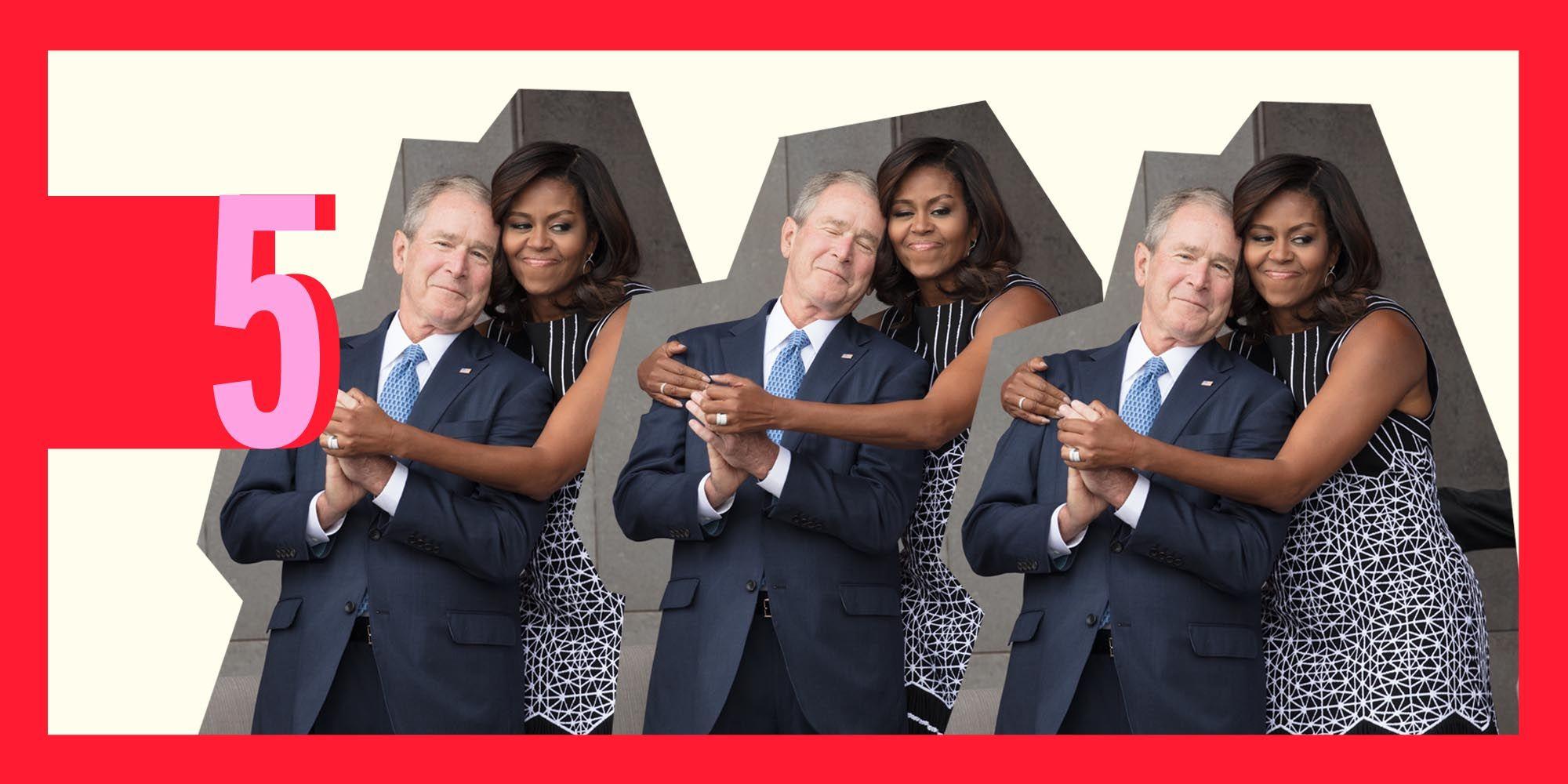 George W. Bush, Michelle Obama
