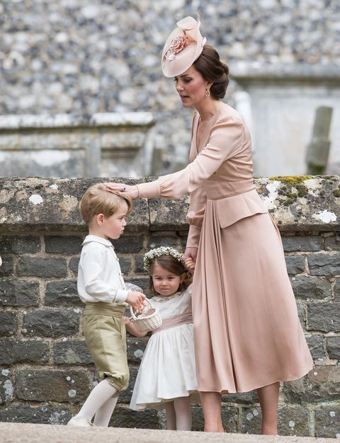 Prince George And Princess Charlotte With The Ss Of Cambridge At Pippa Middleton S Wedding