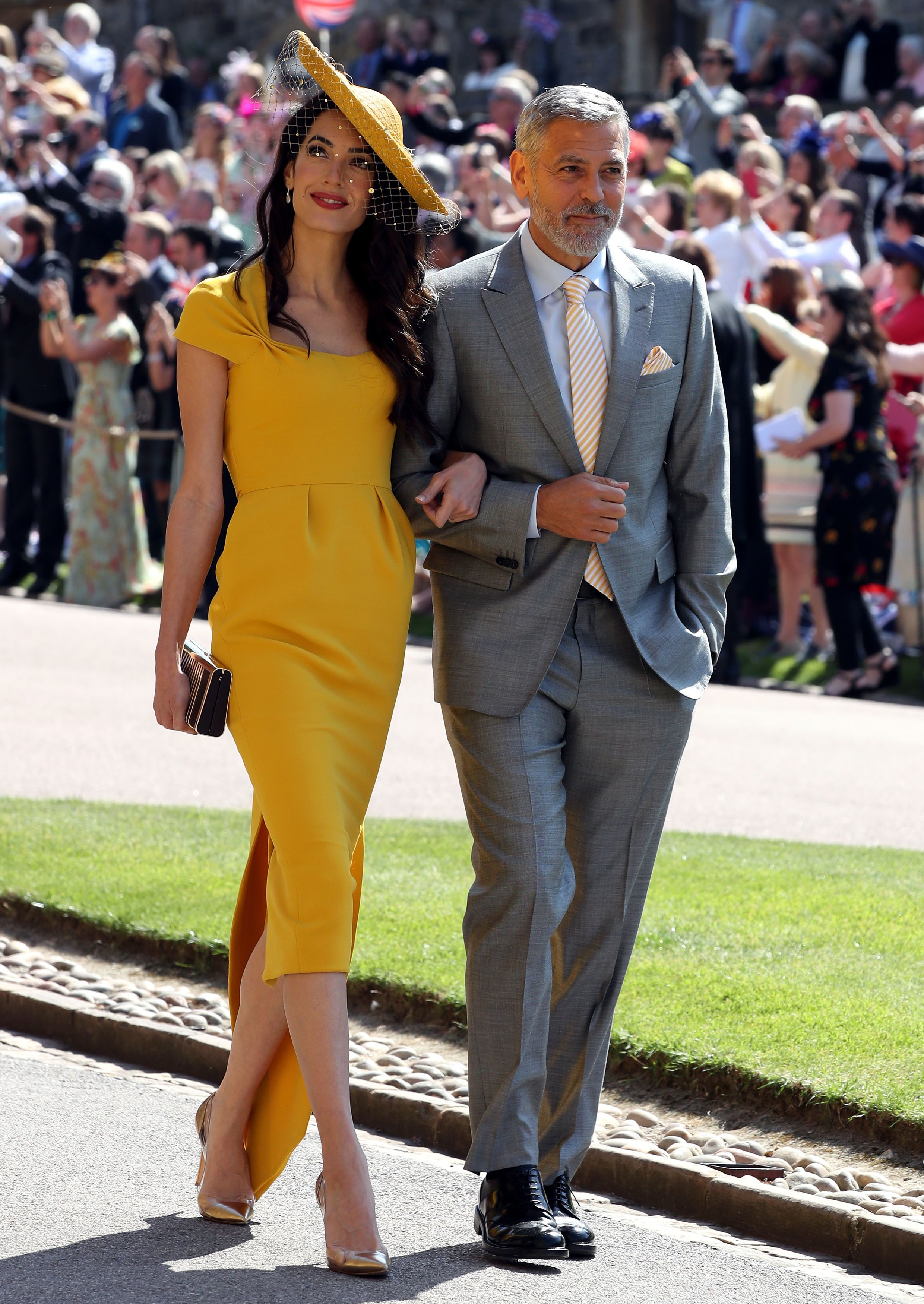 8b3eef0933f2 Amal Clooney s Custom Yellow Royal Wedding Dress Is Now Available to Buy