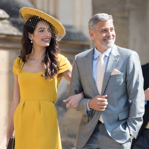 amal clooney george clooney Prince Harry Marries Ms. Meghan Markle - Windsor Castle