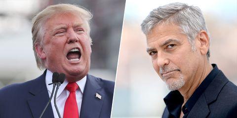 Donald Trump y George Clooney