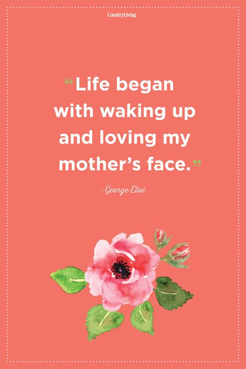 george eliot mother quote