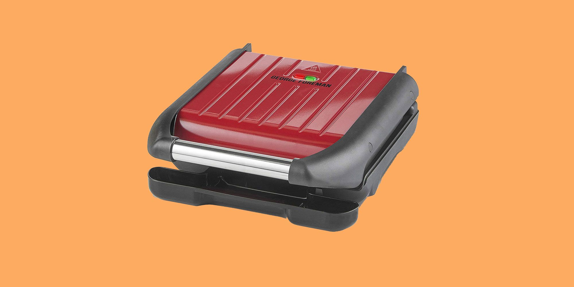 George Foreman 25030 Red Steel Grill - Small