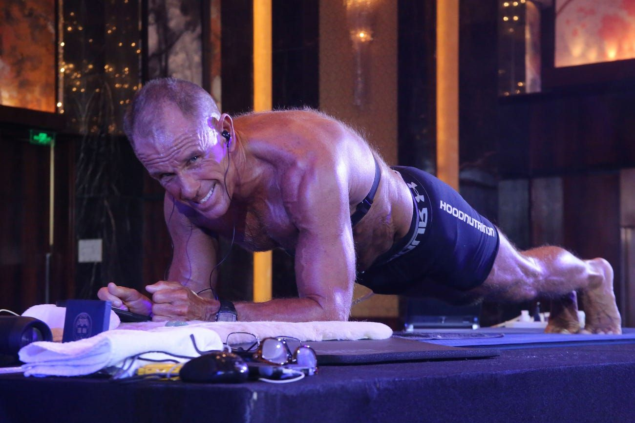 This 62-year-old just held a plank for more than eight hours