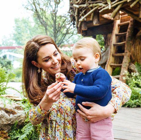 George, Louis, Charlotte Helped Kate Middelton Design Chelsea Flower Show Garden