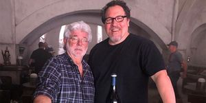 George Lucas Jon Favreau set The Mandalorian