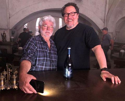 George Lucas Jon Favreau set The Mandalorian