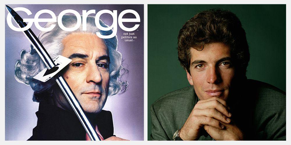 george magazine cover robert de niro george washington sword john f kennedy jr