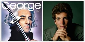 george magazine cover robert de niro george washington sword john f kennedy jr