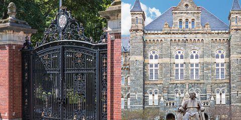 brown university georgetown university compare