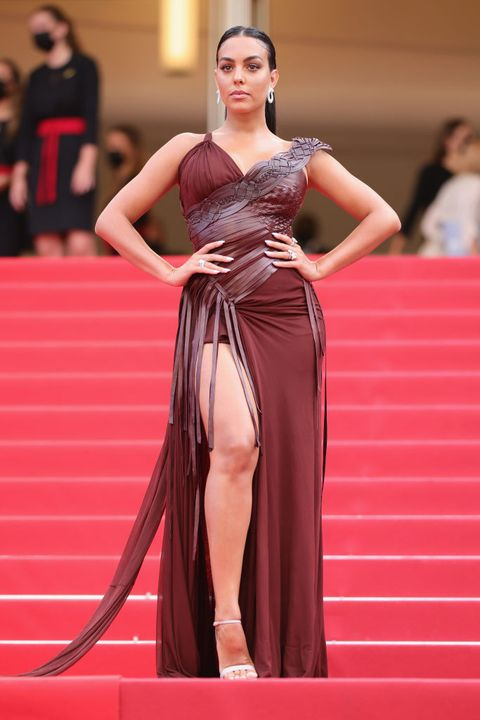 cannes, france   july 15 georgina rodriguez attends the france screening during the 74th annual cannes film festival on july 15, 2021 in cannes, france photo by andreas rentzgetty images