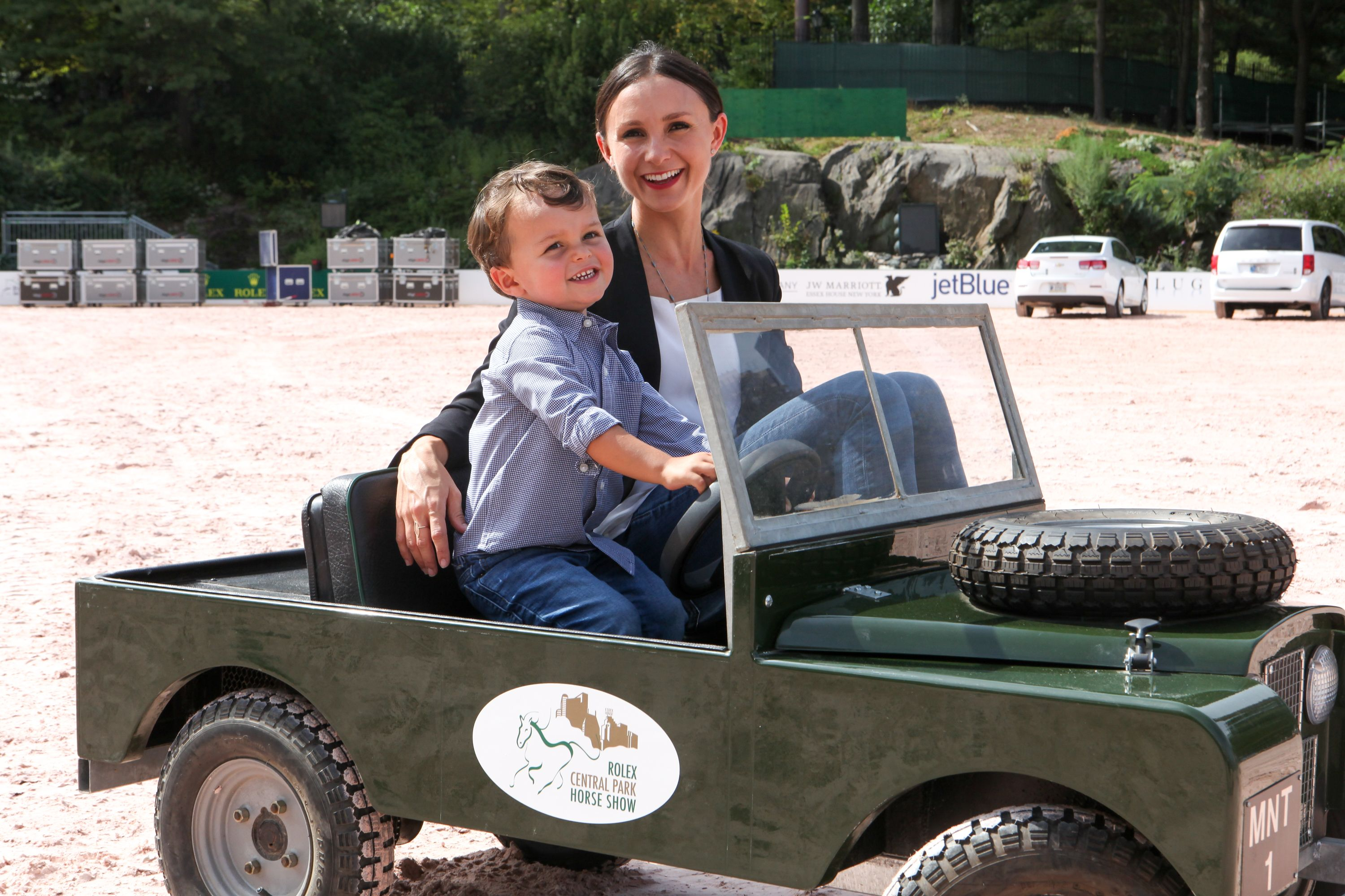 Georgina Bloomberg with her son Jasper in 2016.