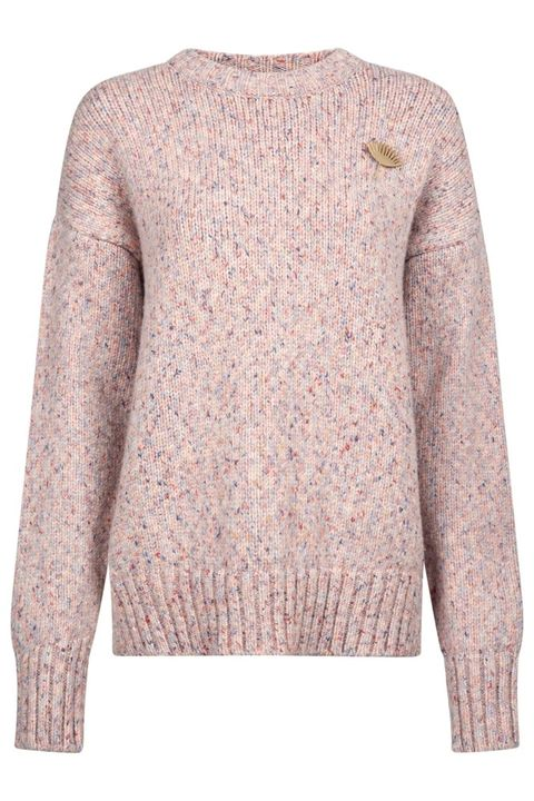 Clothing, Outerwear, Sweater, Sleeve, Beige, Jersey, Neck, Pink, Wool, Top,