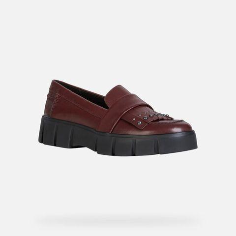 Footwear, Shoe, Brown, Maroon, Mary jane, Leather, Sandal, Clog,