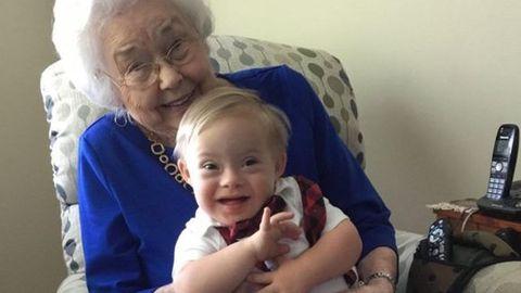 Child, People, Grandparent, Toddler, Nose, Cheek, Baby, Sitting, Smile, Iris,