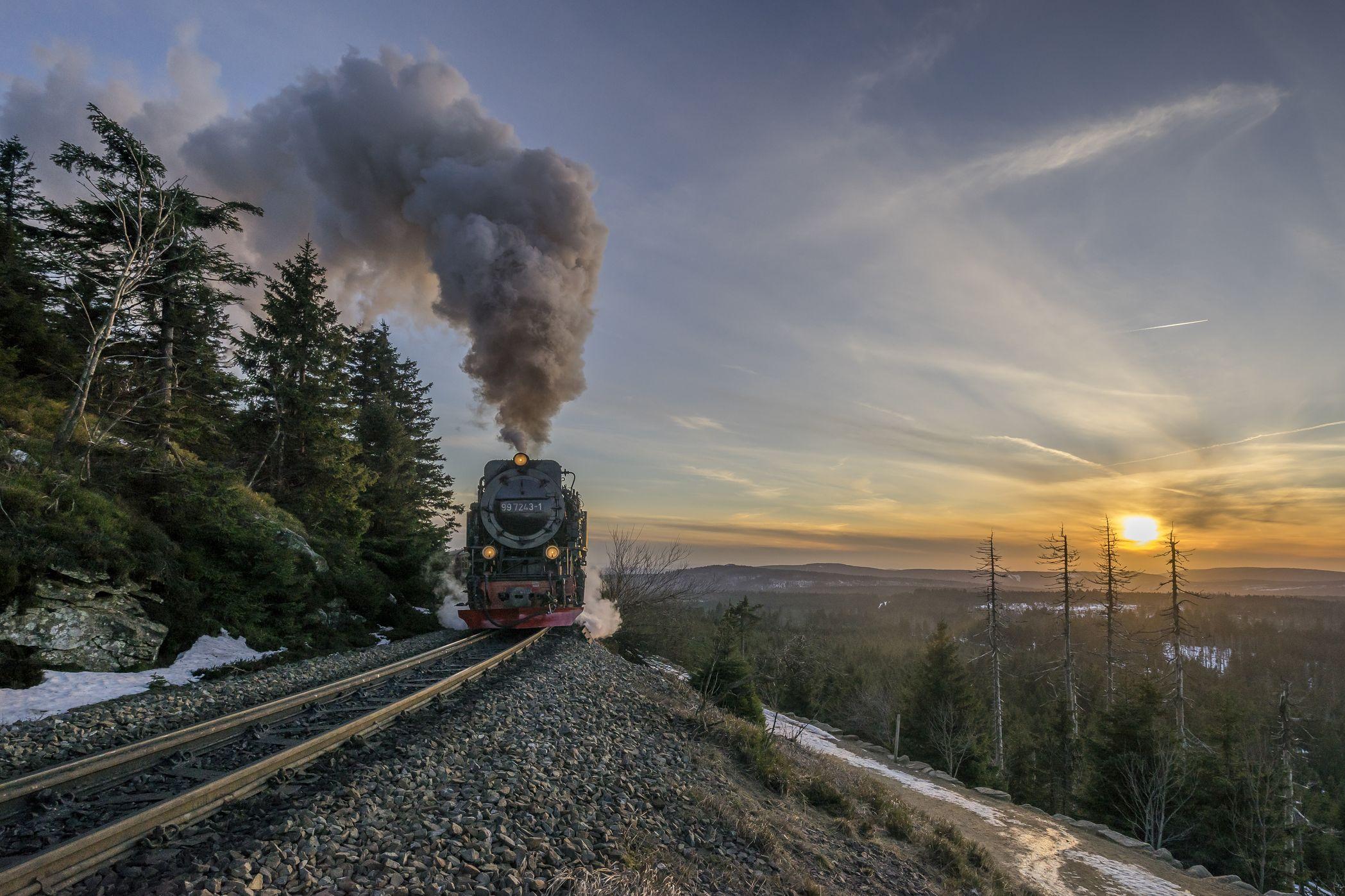 Steam train rides: Harz Railway