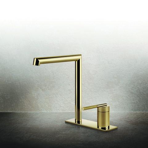 tendencias cuarto de baño grifo dorado gessi