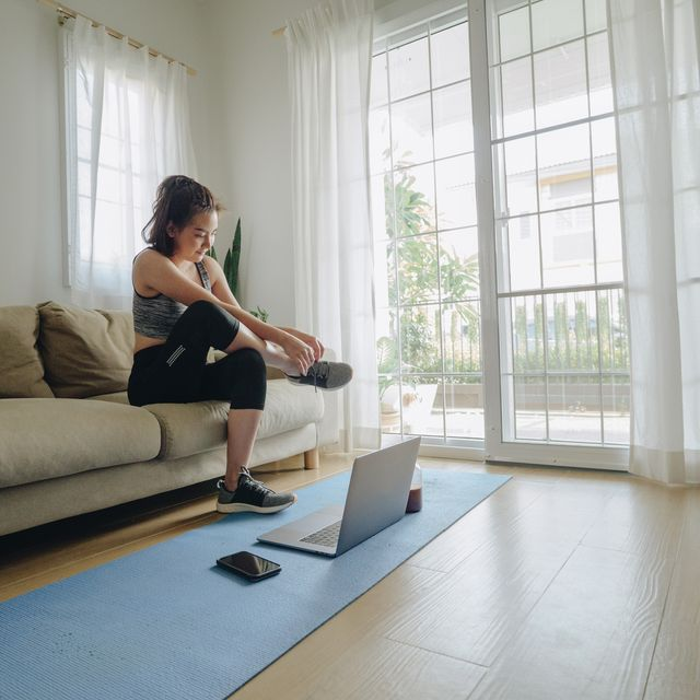 get ready for exercise at home