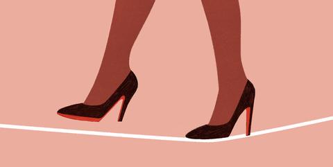 Footwear, Leg, Red, High heels, Human leg, Shoe, Pink, Foot, Joint, Human body,