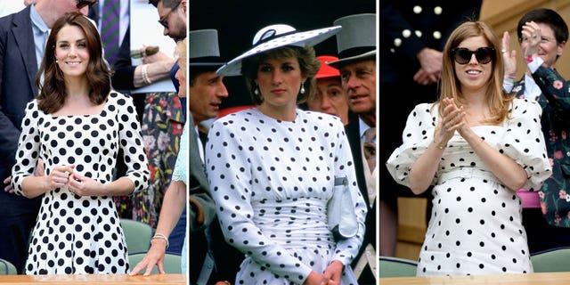 lady di kate middleton princess beatriz vestido lunares