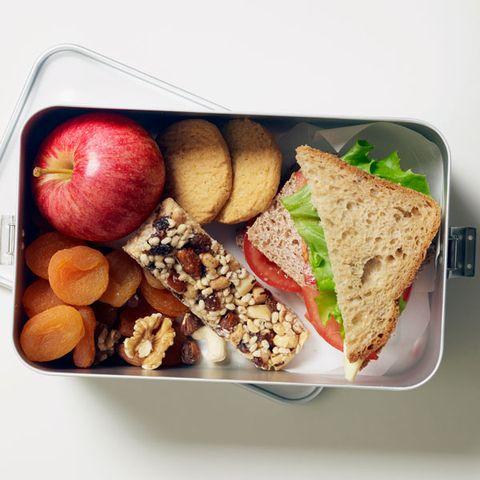 Food, Baked goods, Tableware, Ingredient, Produce, Fruit, Breakfast, Sandwich, Plate, Meal,