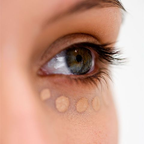 Try concealer under your eyes to hide dark circles.
