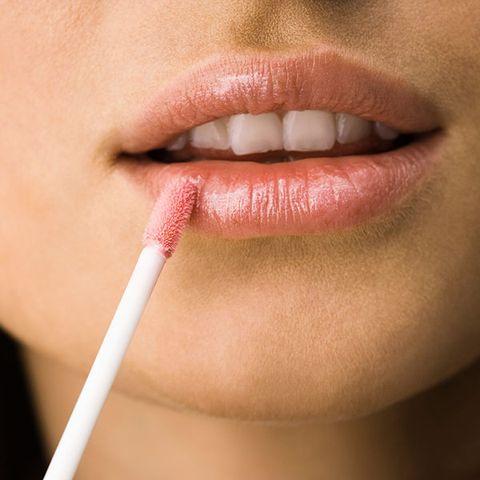 Lip gloss is flattering on aging lips.