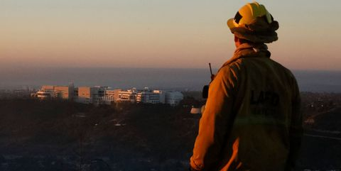 Getty museum Los Angeles Fires