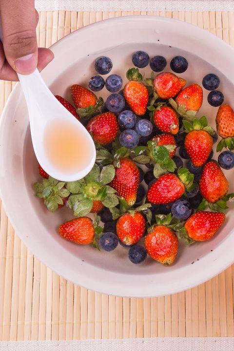 Food, Fruit salad, Fruit, Dish, Berry, Strawberry, Superfood, Cuisine, Ingredient, Plant,
