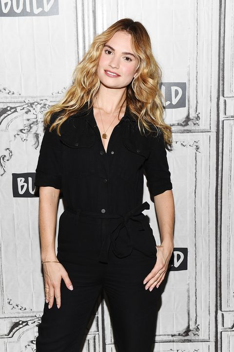 new york, ny july 19 lily james vistis builds studio on july 19, 2018 in new york city photo by nicholas huntgetty images